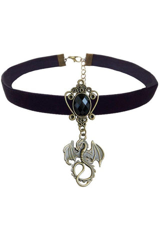 Black Velvet Dragon Choker | Angel Clothing