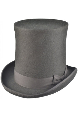 Black Wool Felt Steampunk Stovepipe Hat | Angel Clothing