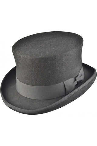 Black Wool Felt Steampunk Top Hat | Angel Clothing