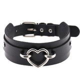Black Gothic Heart Collar | Angel Clothing