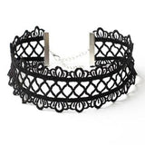 Black Lace Criss Cross Gothic Choker | Angel Clothing