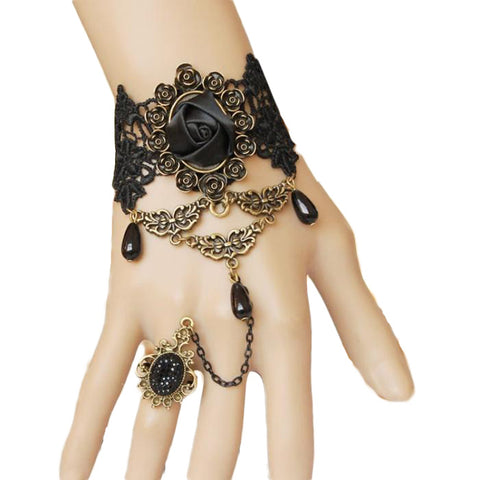 Black Rose Slave Bracelet | Angel Clothing