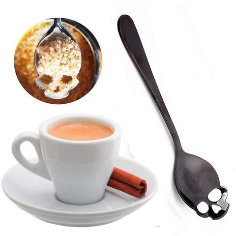 Gothic Skull Sugar Spoon Black | Angel Clothing