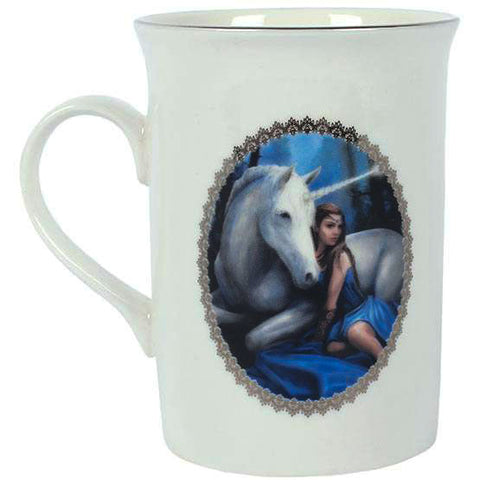 Blue Moon Unicorn Mug By Anne Stokes Gift Boxed - Angel Clothing