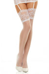 Beauty Night Romance Stockings White | Angel Clothing