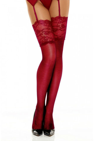 Beauty Night Romance Stockings Cherry | Angel Clothing