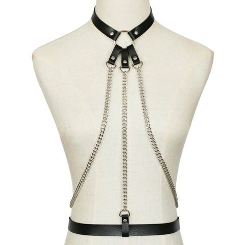 Faux Leather Body Harness | Angel Clothing