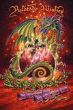 Briar Flaming Dragon Pudding Christmas Card | Angel Clothing