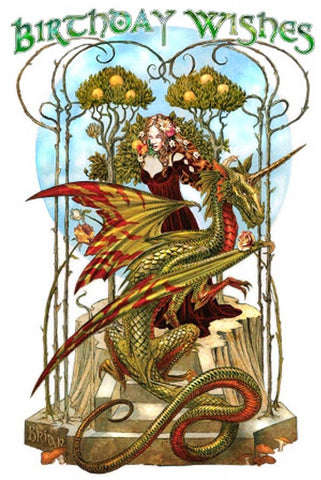 Briar Garden of Firedrake Birthday Card | Angel Clothing