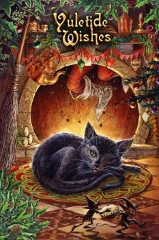 Briar Twas the Night before Yule Christmas Card, Gothic Cat Greetings Card | Angel Clothing