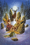 Briar Yule Stag Christmas Card, Gothic Fairy Greetings Card | Angel Clothing