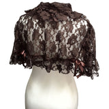 Burleska Amy Brown Lace Steampunk Bolero Shrug Shoulder Cape | Angel Clothing