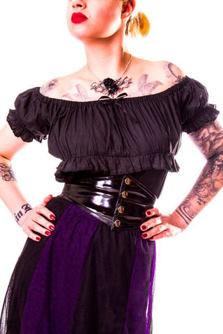 Burleska Gypsy Top Black | Angel Clothing