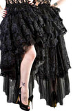 Burleska Black Lace Ophelie Waterfall Skirt | Angel Clothing