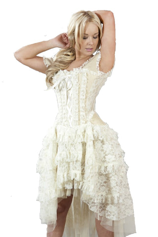Burleska Cream Ophelie Dress Victorian Steampunk Dress | Angel Clothing