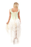 Burleska Cream Steampunk Dress - Pistachio Green King Brocade Ophelie Dress | Angel Clothing