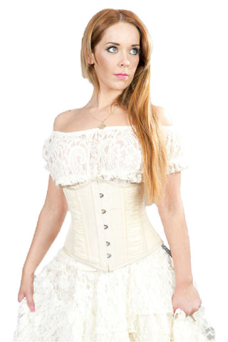Burleska Gothic Clothing Cream Lace Steampunk Gypsy Top | Angel Clothing