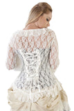 Burleska Morticia Lace Steampunk Top Cream | Angel Clothing