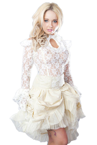 Burleska Queen Victorian Top Cream | Angel Clothing