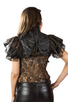 Burleska Gothic Clothing Sonya Steampunk Bolero Shrug in Coffee Matte Leatherlook PVC | Angel Clothing