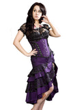 Burleska Gothic Pin Up Skirt in Purple Taffeta | Angel Clothing