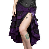 Burleska Gothic Pin Up Skirt Purple | Angel Clothing
