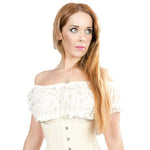 Burleska Gypsy Top Cream Lace | Angel Clothing