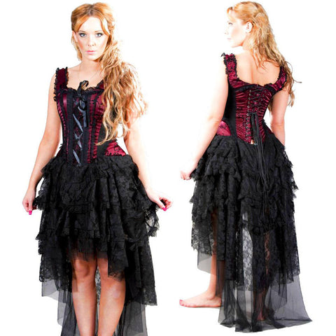 Burleska Ophelie Dress Burgundy | Angel Clothing