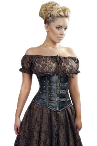 Burleska Steampunk Gypsy Top Brown Lace | Angel Clothing