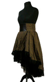Burleska Steampunk Skirt, Julia Long Brown Stripe Waterfall Skirt | Angel Clothing