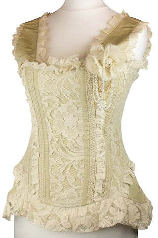 Burleska Steampunk Venice Bodice Cream | Angel Clothing