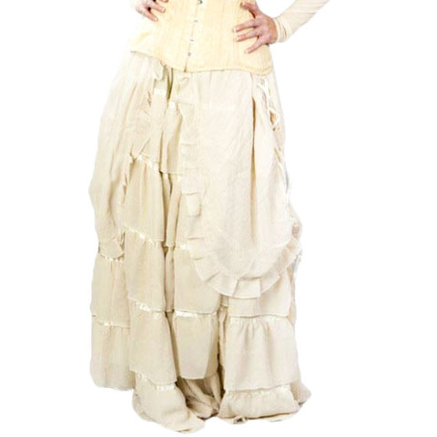 Burleska Victorian Gothic Skirt Cream | Angel Clothing