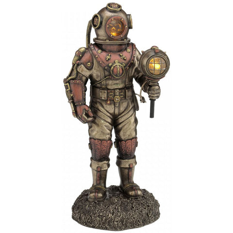 Mariners Descent Steampunk Figurine with LED Lights. 27cm | Angel Clothing