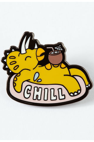 Punky Pins Chill Dinosaur Enamel Pin | Angel Clothing