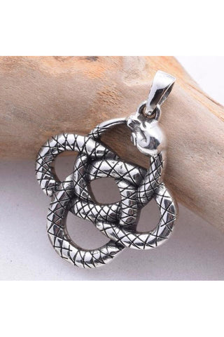 Seventh Sense Coiled Snake Pendant Silver | Angel Clothing