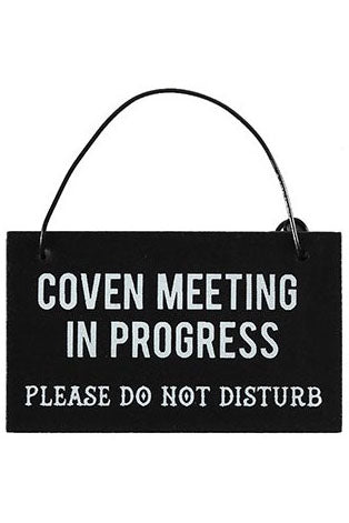 Coven Meeting Hanging Mini Sign | Angel Clothing