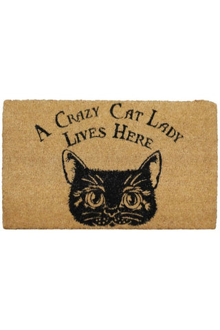Crazy Cat Lady Doormat | Angel Clothing