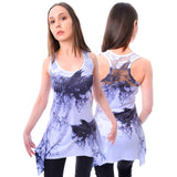 Innocent Lifestyle Crow Shade Lace Panel Vest | Angel Clothing