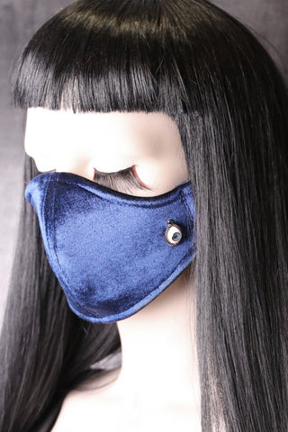 Cry Baby Blue Velvet Neoprene Face Mask | Angel Clothing