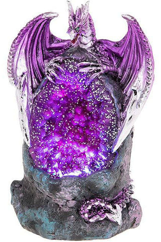 Crystal Cave LED Dragon Purple Small | Angel Clothing