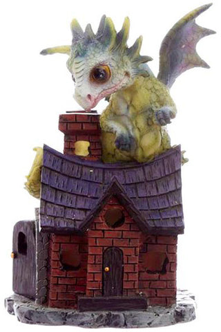 Cute Green Baby Dragon on Cottage A | Angel Clothing