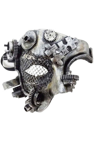 Cyber Mask, Mechanical Phantom, Steampunk Masquerade Mask | Angel Clothing