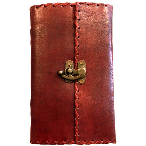 Leather Journal with Lock 14cm x 23cm | Angel Clothing
