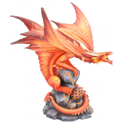 Anne Stokes Adult Fire Dragon 24.5cm | Angel Clothing