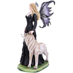 Loveta Fairy and Wolf Figurine 58.5cm | Angel Clothing