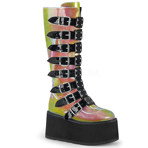 Demonia DAMNED 318 Boots Pink | Angel Clothing