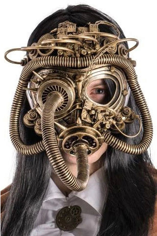 Dark Full Face Steampunk Mask | Angel Clothing