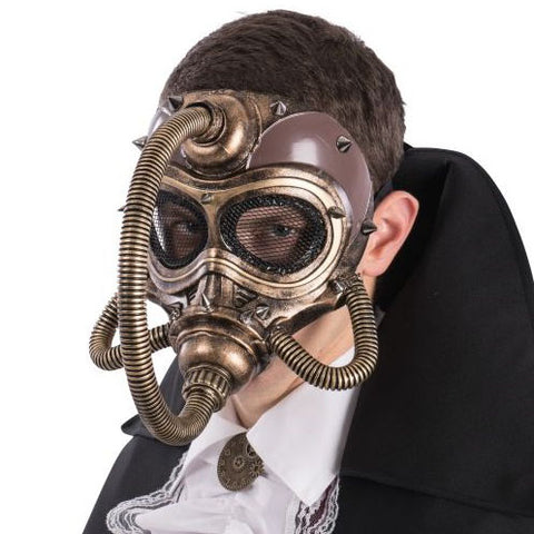 Dark Baron Steampunk Full Face Gas Masquerade Mask | Angel Clothing