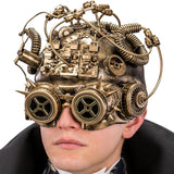 Dark Baron Steampunk Half Face Mask with LED Lights | Angel Clothing
