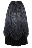 Dark In Love Velvet Lace Flocked Skirt | Angel Clothing